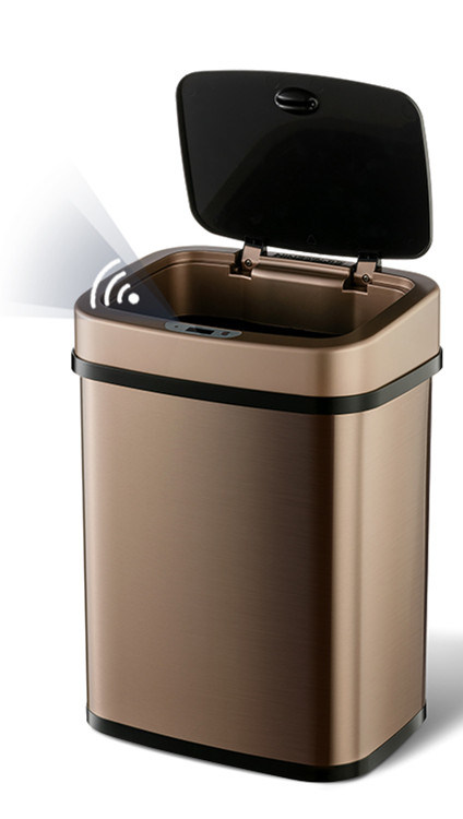 12lsteel Household Kitchen Automatic Open Stainless Steel Intelligent Smart Garbage Bin Sensor