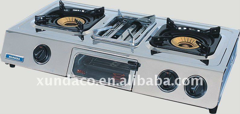 Stainless Steel Gas Stove with Grill