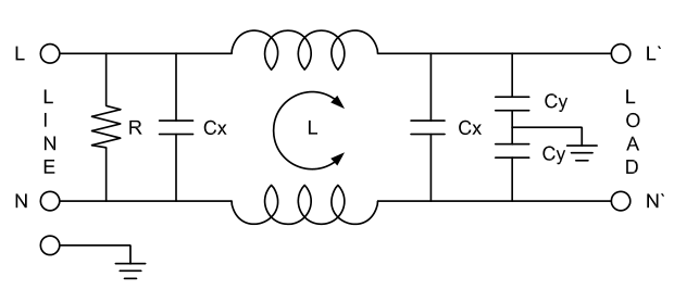 AC Low Pass EMI Filter
