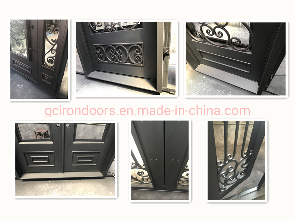 Low Price Hand-Forged Iron Entry Securtiry Front Door