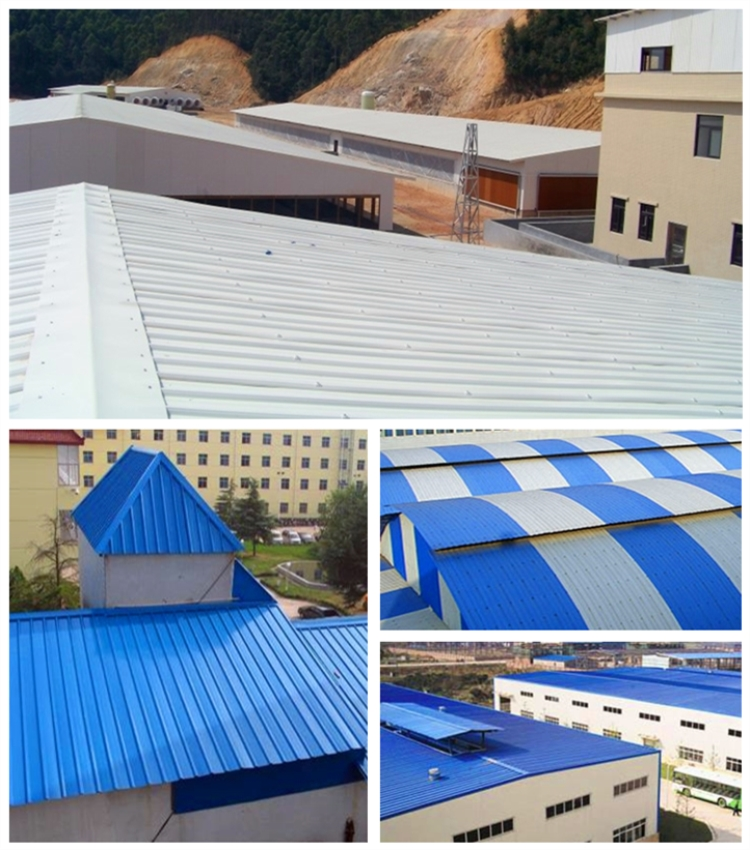 Project of PVC roofing sheet