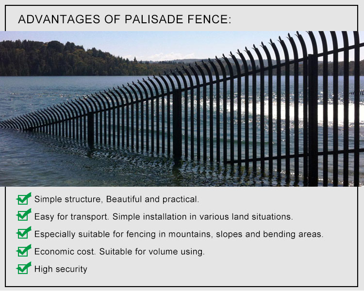PVC privacy palisade fence concrete fencing posts