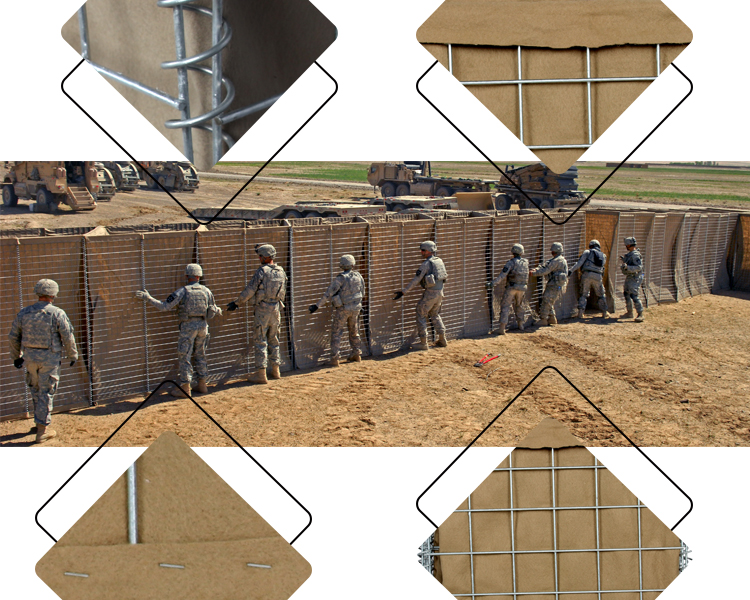 Eco-Friendly  Protection Galvanized Hesco Barriers