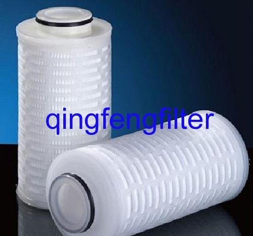 0.22/0.45 Micron Pleated Pes Filter Cartridge for Food Beverage Filtration