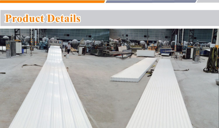 Production of PVC roofing sheet