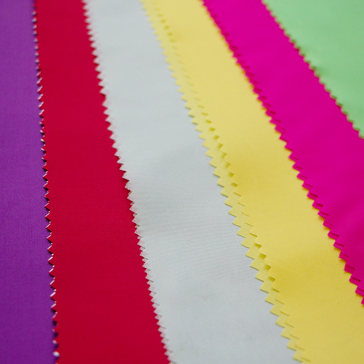 Multi-colored taffeta fabric