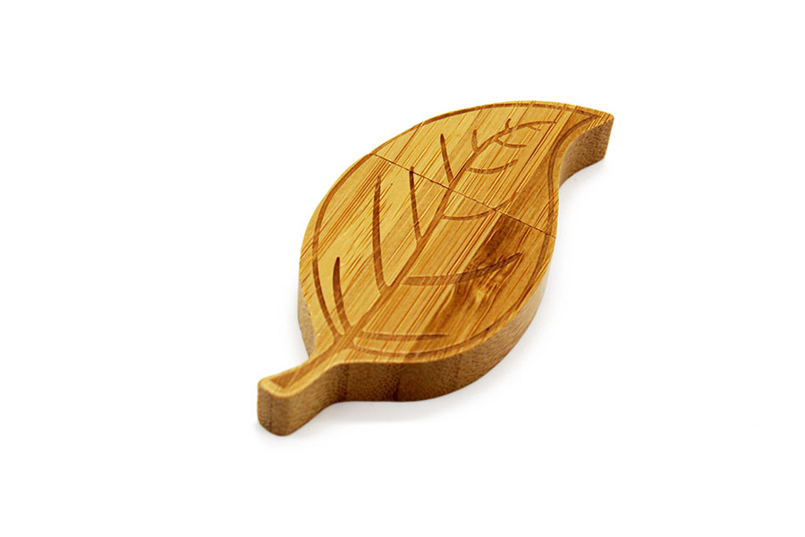 Wooden Leaf Flash Drive