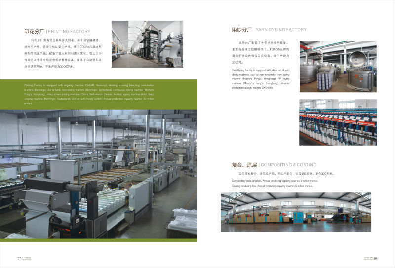 Printing, Coating and Yarn Dyeing Departments