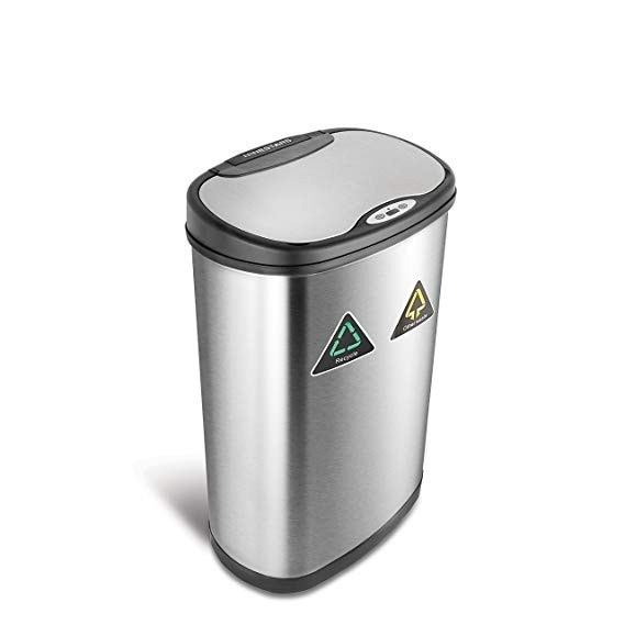 42L/50L Hot Sale Stainless Steel Trash Can Touchless Classification Recycle Bins
