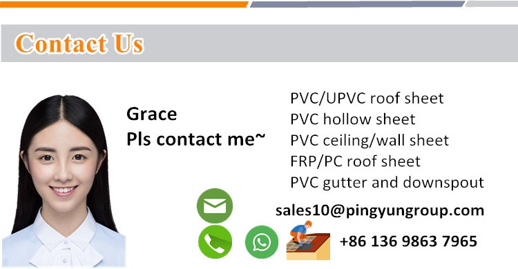 contact of PVC roofing sheet